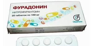 Фурадонин - фото упавковки препарата